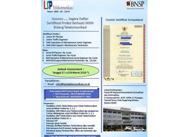Daftar Sertifikasi Profesi Berbasis SKKNI Bidang Telekomunikasi