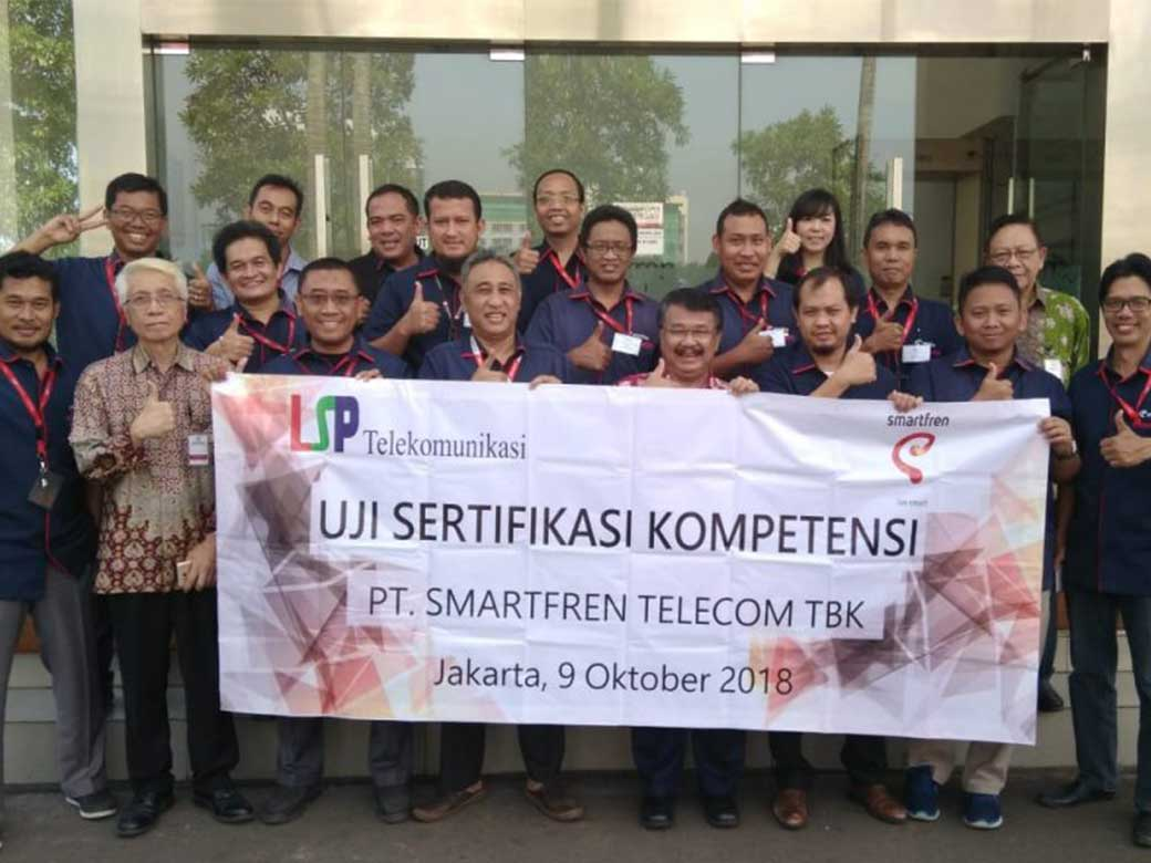 Uji Sertifikasi Kompetensi Berbasis SKKNI PT. Smartfren Tanggal 9 Oktober 2018